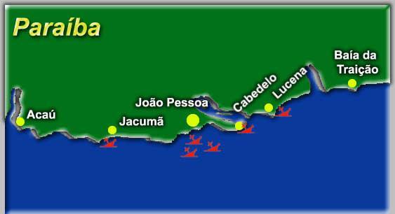 Paraíba tem cemitério de navios naufragados que podem ser vistos pelos turistas